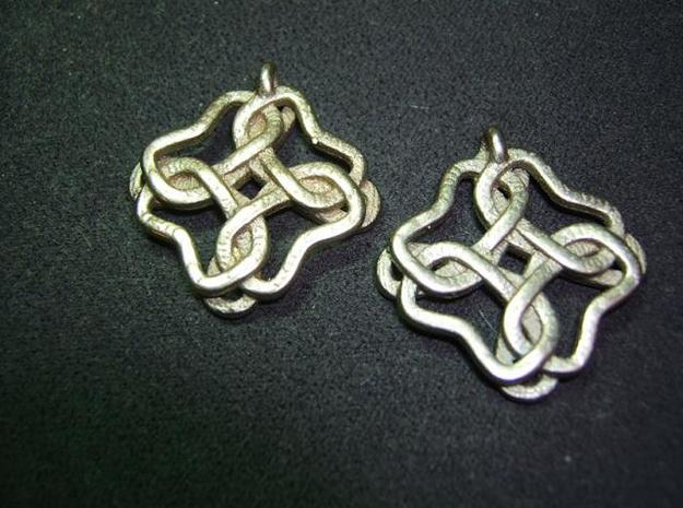 Friendship knot earrings 3d printed Back high