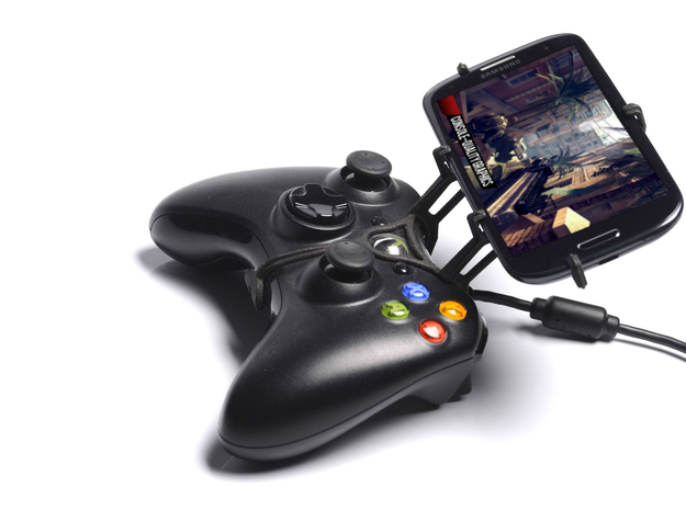 Xbox 360 controller & Yezz Andy 4EI2 - Front Rider in Black Natural Versatile Plastic