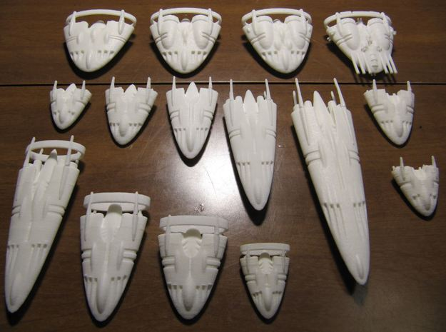 Slipstream III-E 3d printed Full Slipstream line-up for comparison.