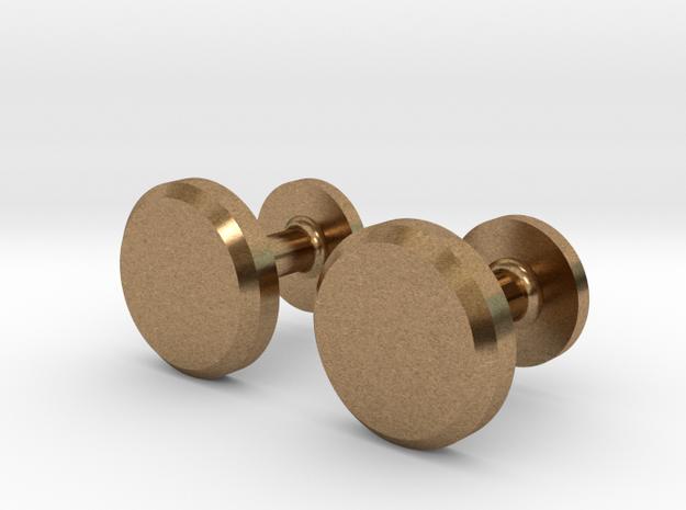 Milnerfield Hawking Cufflinks - Pair in Raw Brass