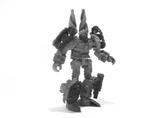 "01-GDT ""Crusader"" 3d printed (Painted) 01-GDT Crusader: Robot Mode (Alternate Goggles Head)"