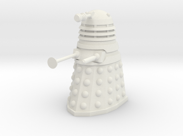 Dalek Mk I - Neutral Pose in White Strong & Flexible