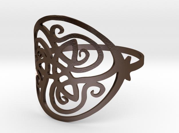 Beautiful Ring in Polished Bronze Steel