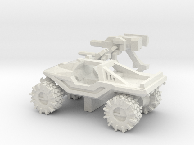 All-Terrain Vehicle with weapons in White Strong & Flexible