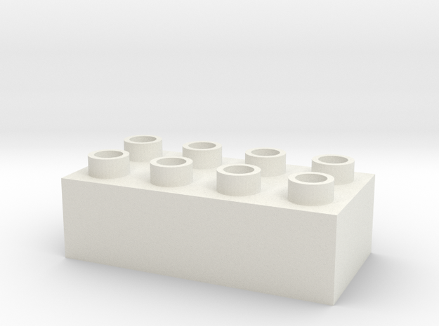 The toy block that doesn't fit together. in White Natural Versatile Plastic