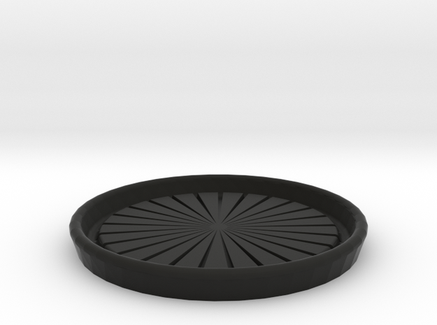 Cup Coaster in Black Natural Versatile Plastic