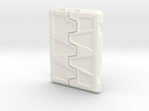 Rhino Armored Top Hatches in White Processed Versatile Plastic
