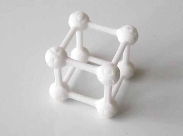 Average D6 Molecule Dice in White Strong & Flexible