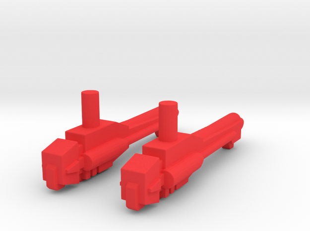 Titans Return Cloudraker Weapons in Red Processed Versatile Plastic