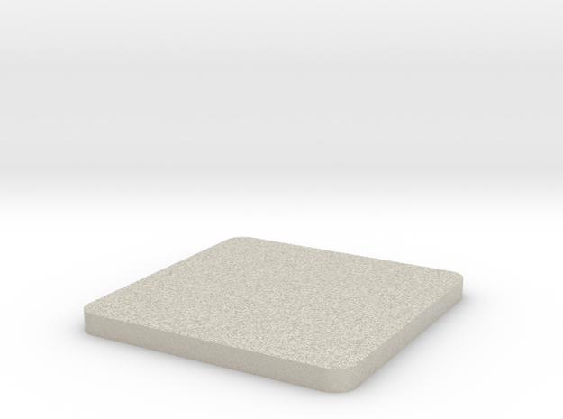 Customizable coaster in Natural Sandstone