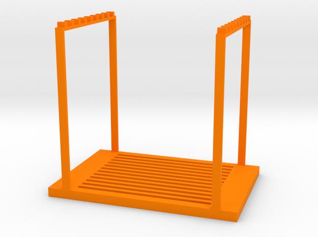 Stackable shelf in Orange Processed Versatile Plastic