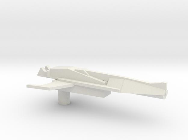 Hot Rod Gun in White Natural Versatile Plastic