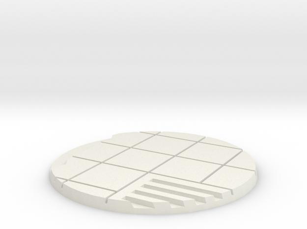 60mm Urban City Street Base - Style 2 in White Natural Versatile Plastic