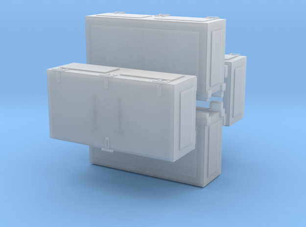 Ammoboxes for Quad Flak 1 zu 35 20170814 in Smooth Fine Detail Plastic
