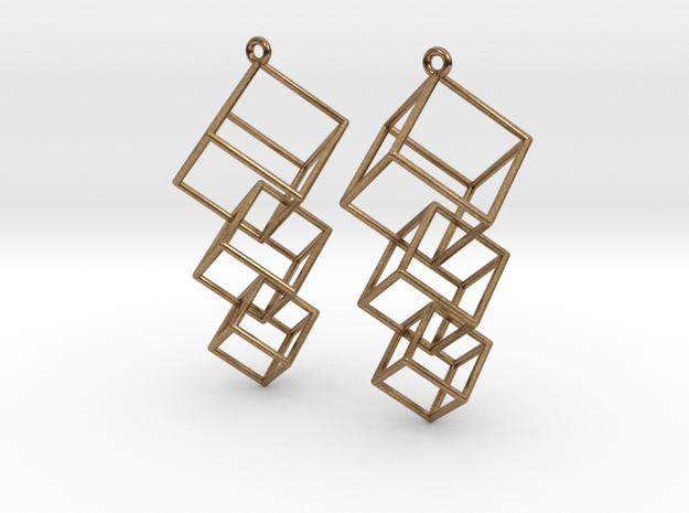 Dangling Cubes Earrings