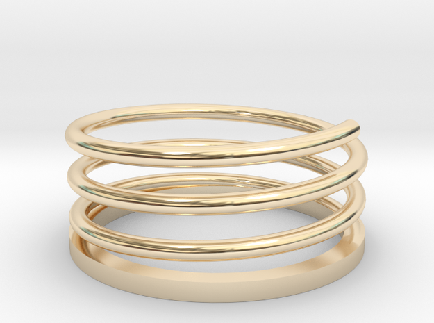 Spiral Ring in 14k Gold Plated Brass: 3 / 44