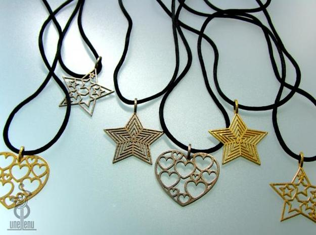 Star Pendant 'Radiant Star' 3d printed