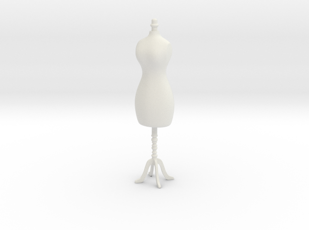 Female mannequin 01. 1:12 Scale in White Natural Versatile Plastic