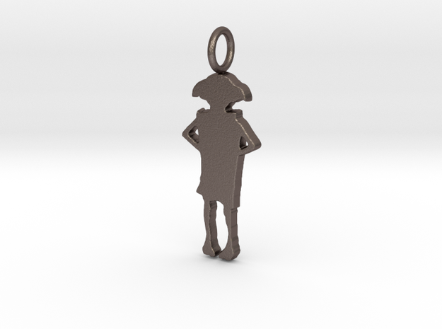 Dobby Silhouette Pendant in Stainless Steel