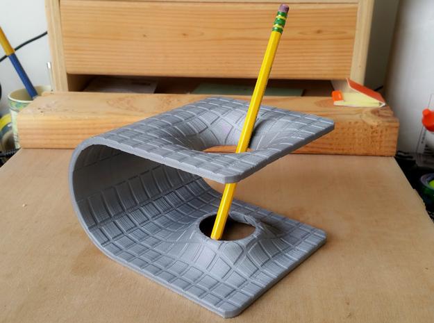 Einstein-Rosen Bridge (Wormhole) Pencil Holder in White Strong & Flexible: Small
