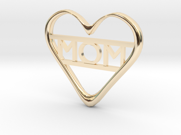Mom's Heart in 14k Gold Plated