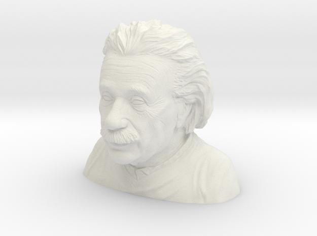 1/6 Einstein Bust (Solid) in White Strong & Flexible