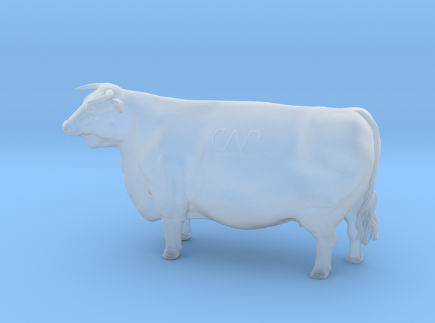 1/64 Horned Hereford Cow2 in Smoothest Fine Detail Plastic