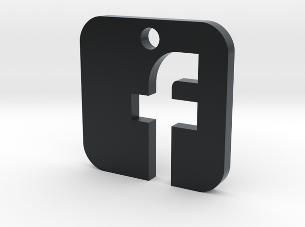 Facebook Pendant in Black Hi-Def Acrylate