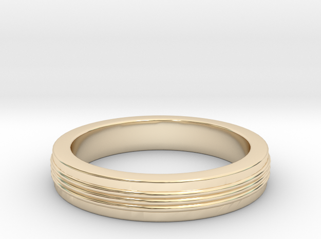 Three Strand Ring in 14K Gold: 3 / 44