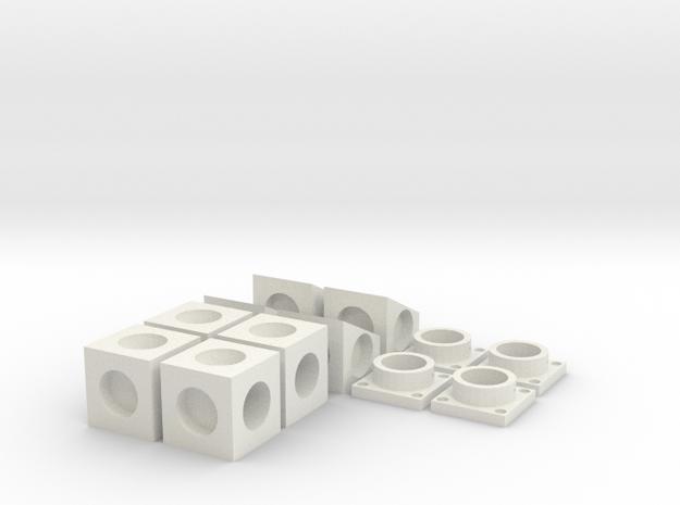 MPConnector Set Basic Bundle in White Natural Versatile Plastic