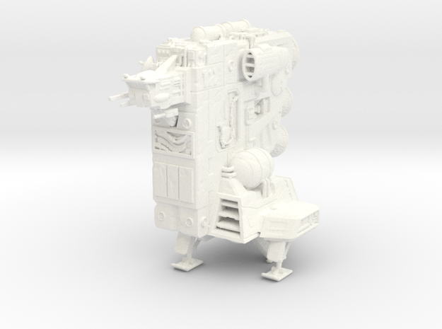 'The Flagstone' Ship Miniature in White Processed Versatile Plastic