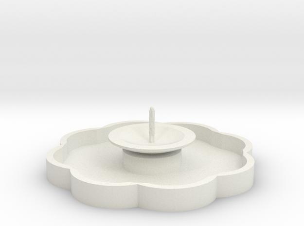 Zierbrunnen mit 1 Fontaine - 1:120 in White Natural Versatile Plastic