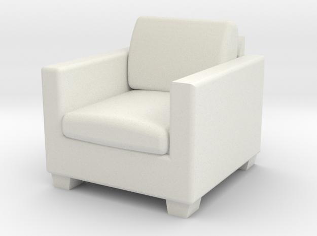 1:48 Davis Apartment Chair in White Natural Versatile Plastic