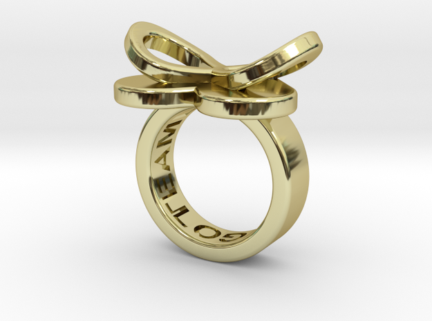AMOUR petite in 18k gold plated in 18k Gold Plated Brass: 3 / 44
