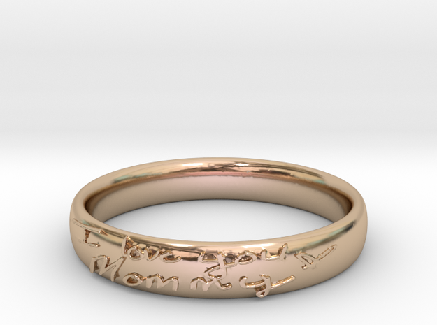 Sample Handwritten Bangle in 14k Rose Gold Plated Brass