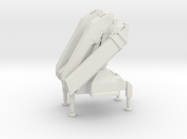 Hiab Hoist Folded And Fixed 2 pack 1-96 Scale in White Natural Versatile Plastic