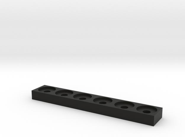 22mm RDA/Tank Stand in Black Natural Versatile Plastic