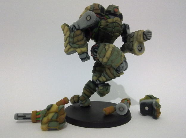 Mech suit with twin weapons. (8) 3d printed Magnets