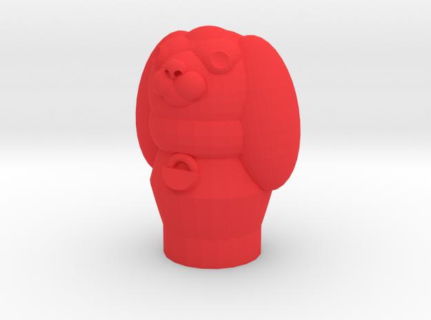 Pupper Stopper III in Red Processed Versatile Plastic