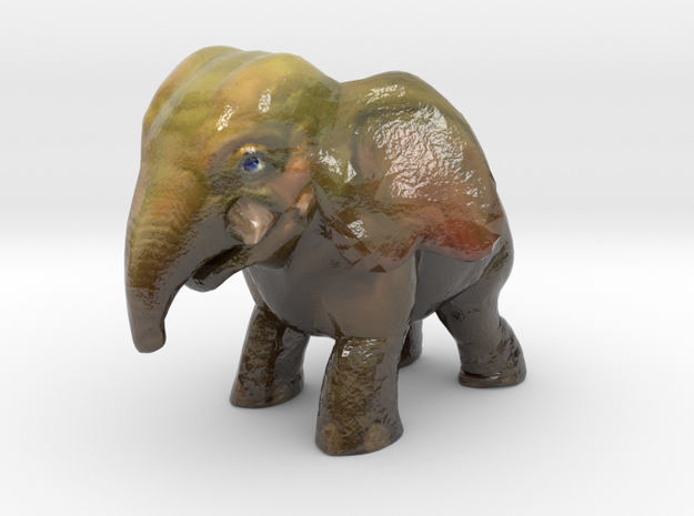 Baby Elephant in Glossy Full Color Sandstone