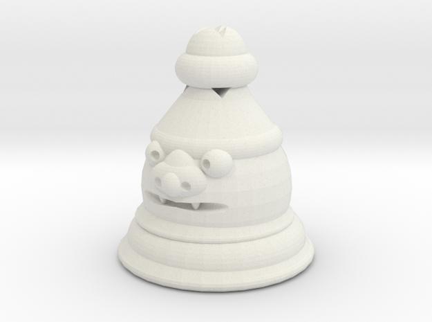 Shisa Pawn in White Natural Versatile Plastic