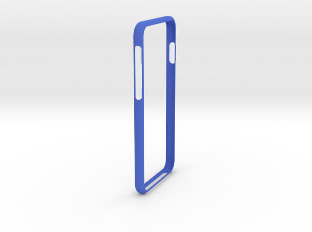 iphone 6 and 6S Bumper in Blue Strong & Flexible Polished