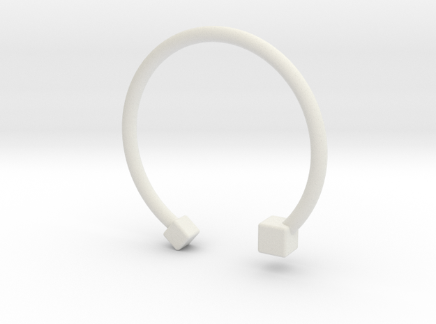 braclet3 in White Natural Versatile Plastic: Extra Small