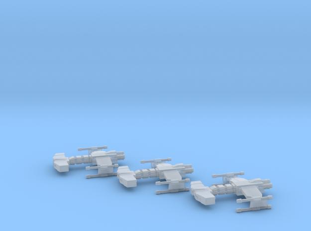 Behemoth class Battlecruiser x3 1:10000 in Smooth Fine Detail Plastic