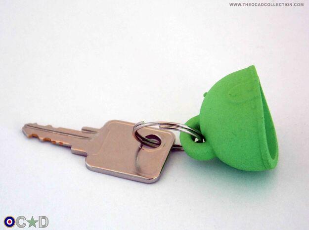 OCAD MK6/MK6A HELMET KEYRING HANGER in Green Strong & Flexible Polished