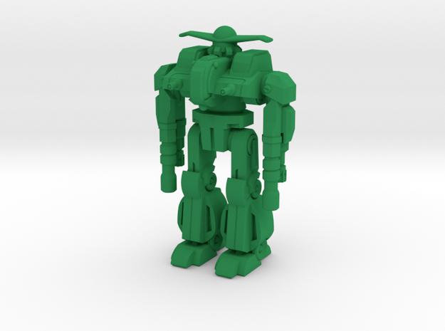 Gunnar Type Combat Walker - 6mm in Green Processed Versatile Plastic