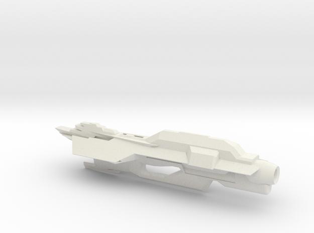 USS Turtle in White Natural Versatile Plastic