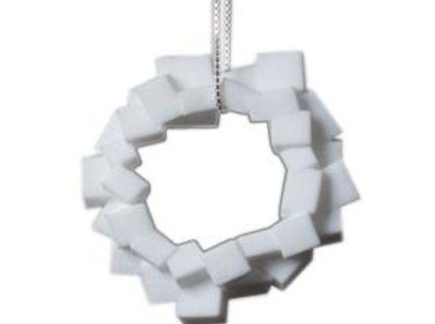 Lewitt pendant large in White Strong & Flexible Polished