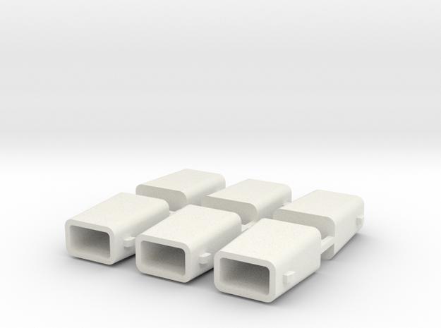 set4792 Stahlkokille 2 Zapfen Längs mit Boden 6erS in White Natural Versatile Plastic