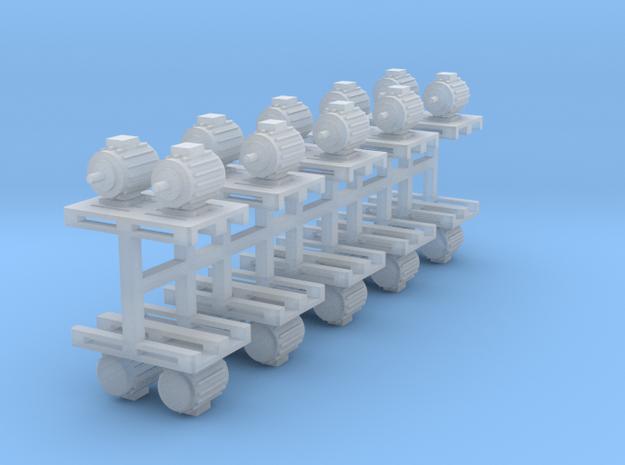Elektromotoren auf Europalette 10er Set 2 - 1:120  in Smooth Fine Detail Plastic